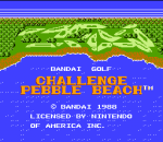 Bandai Golf - Challenge Pebble Beach title screenshot