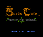 Bard's Tale, The title screenshot