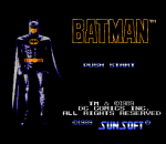 Batman - The Video Game title screenshot