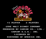 Chip 'n Dale - Rescue Rangers title screenshot