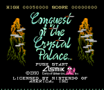 Conquest of the Crystal Palace title screenshot