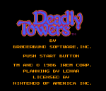 Deadly Towers title screenshot