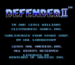 Defender II title screenshot