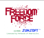 Freedom Force title screenshot