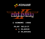 Gradius 2 title screenshot