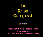 Krion Conquest, The title screenshot