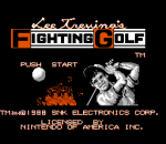 Lee Trevino's Fighting Golf title screenshot