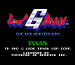 Low G Man - The Low Gravity Man title screenshot
