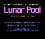 Lunar Pool title screenshot