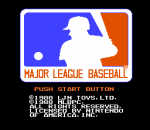 Major League Baseball title screenshot