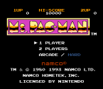 Ms. Pac-Man title screenshot
