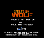 Operation Wolf title screenshot