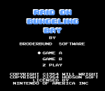 Raid on Bungeling Bay title screenshot