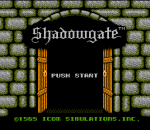 Shadowgate title screenshot