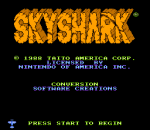 Sky Shark title screenshot