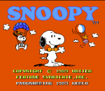 Snoopy's Silly Sports Spectacular! title screenshot