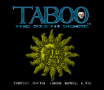 Taboo - The Sixth Sense title screenshot