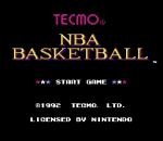 Tecmo NBA Basketball title screenshot