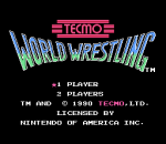 Tecmo World Wrestling title screenshot