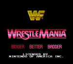 WWF Wrestlemania title screenshot