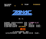 Zanac title screenshot