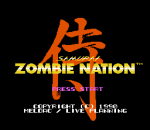 Zombie Nation title screenshot