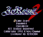 ActRaiser 2 title screenshot