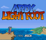Ardy Lightfoot title screenshot