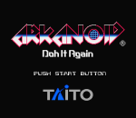 Arkanoid - Doh It Again title screenshot