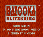 Bazooka Blitzkrieg title screenshot