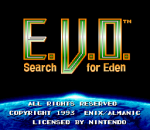 E.V.O. - Search for Eden title screenshot