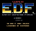 Super Earth Defense Force title screenshot