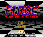 F1 ROC - Race of Champions title screenshot