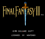 Final Fantasy II title screenshot