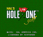 HAL's Hole in One Golf title screenshot