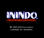 Inindo - Way of the Ninja title screenshot
