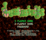 Lemmings title screenshot