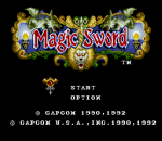 Magic Sword title screenshot