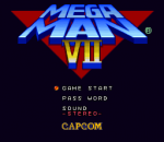 Mega Man 7 title screenshot