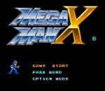 Mega Man X title screenshot