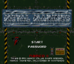 Metal Marines title screenshot