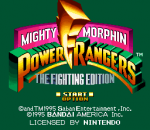 Mighty Morphin Power Rangers - The Fighting Edition title screenshot