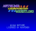 Natsume Championship Wrestling title screenshot