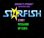 Operation Starfi5h - James Pond 3 title screenshot