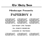 Paperboy 2 title screenshot