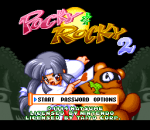 Pocky & Rocky 2 title screenshot