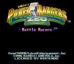 Power Rangers Zeo - Battle Racers title screenshot