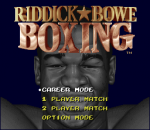 Riddick Bowe Boxing title screenshot