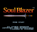 Soul Blazer title screenshot
