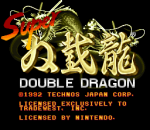Super Double Dragon title screenshot